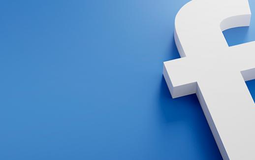 facebook-logo-minimal-simple-design-template-copy-space-3d